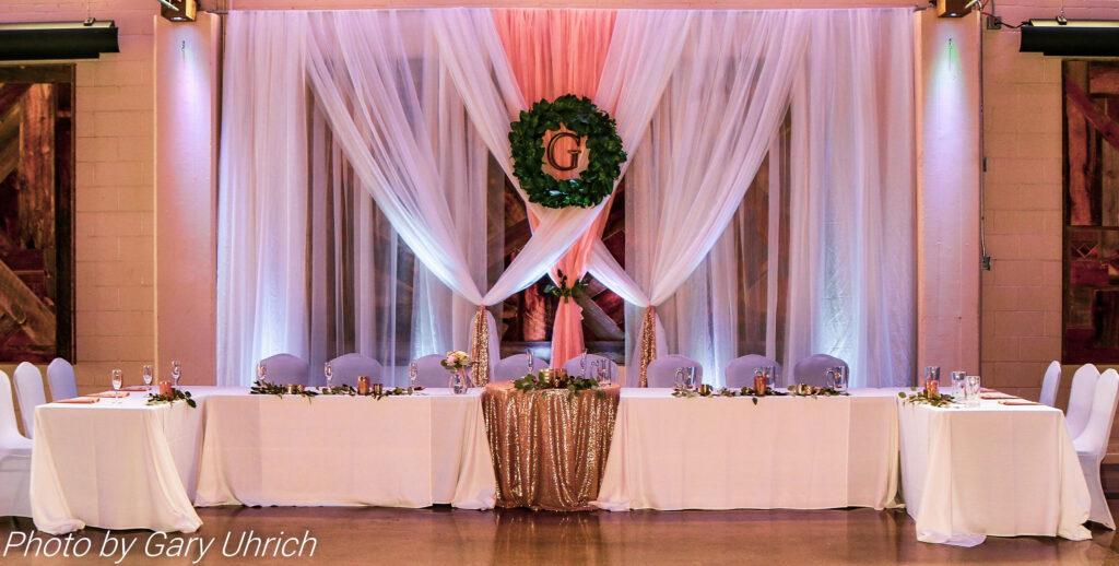 Head Bridal Table Backdrop Wedding Decor Idea
